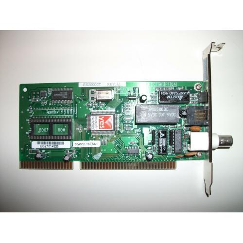 Quantity 3 - Simple Net SN2000 16 Bit LAN Card 10BaseT / BNC with Driver Disk
