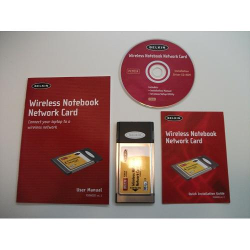 Belkin F5D6020 Ver. 2 802.11b Wireless Notebook Network PCMCIA Card