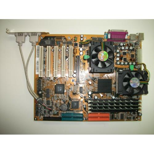 ABIT VP6 Motherboard Dual P3 Intel 1GHz CPU 1.5GB PC-133 RAM w/ CD,Manual,Plate