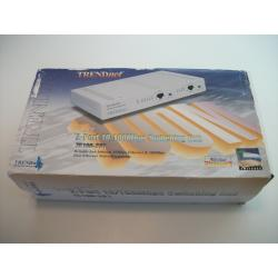 Vintage - TRENDnet TE100-S21 ProExpress 2 Port 10/100 Switching Hub w/AC Adapter