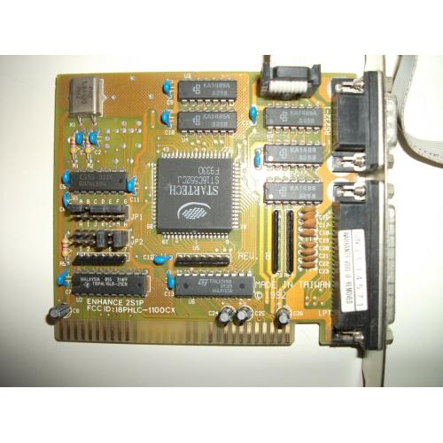 SIIG Enhance 2S1P 8 Bit ISA I/O Card w/16550 UART 2 Serial Port / 1 Parallel